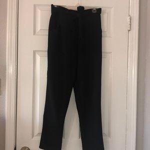 Black high rise pants